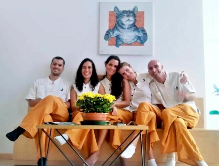 our team massages in Lisbon